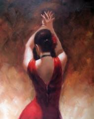 flamenco dancer back view