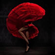 swirl of red dress