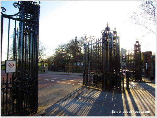 One of the grand gates to Richmond Park