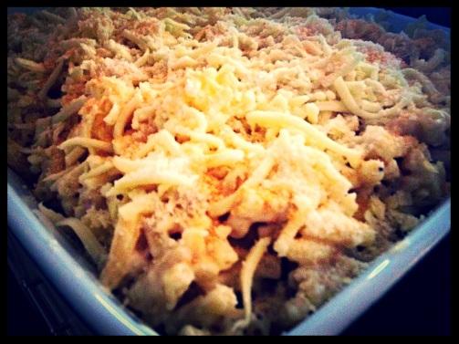 Jamaican Macaroni & parmesan chicken