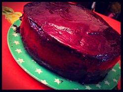 Naughty but easy chocolate cake