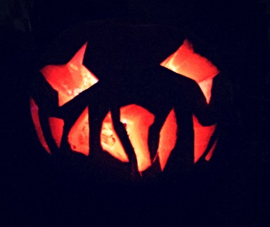 Our home made carved pumpkins for the boys