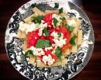 Rigatoni with roasted tomatoes & ricotta salata