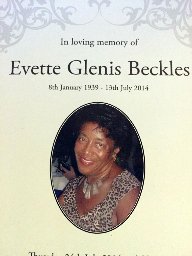 In loving memory of Evette Beckles