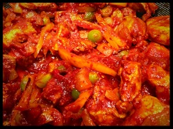 Chicken Green Tomato Jalfrezi