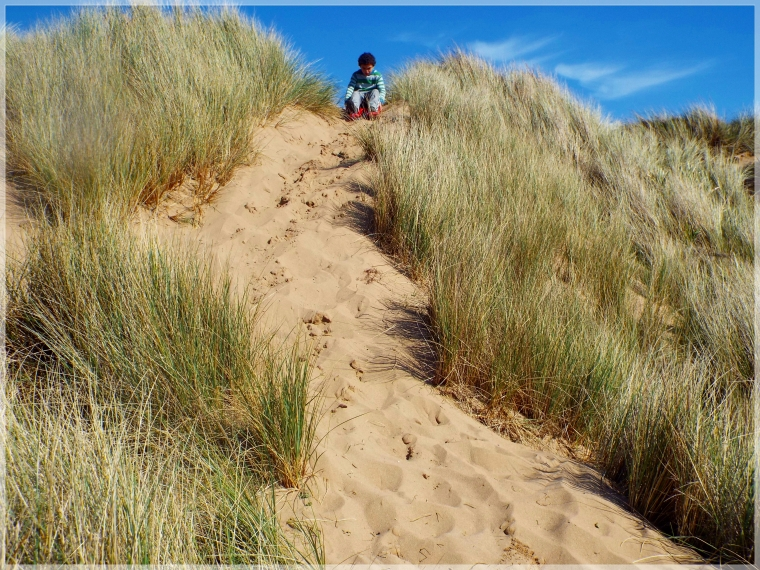 Devon my youngest speeding down the sand dunes