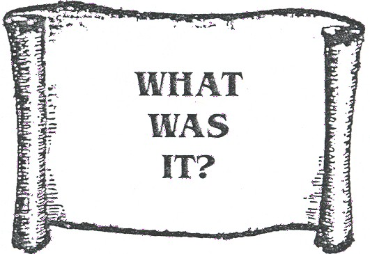 What was it?