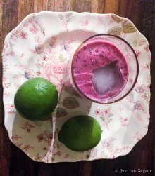 Blueberry Lime Coconut Smoothie