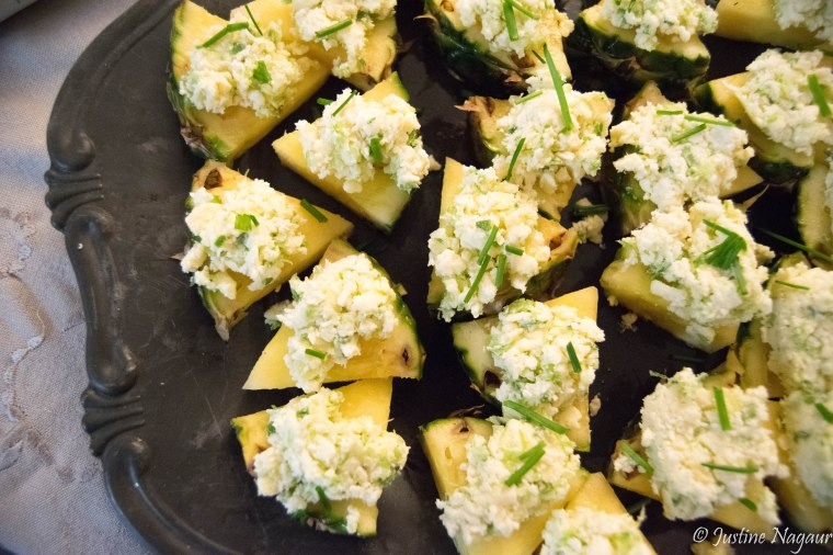 Cheese & Pineapple Wedges