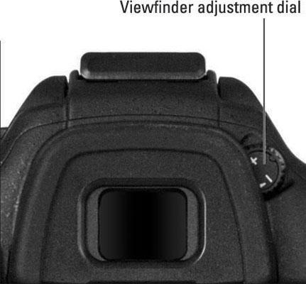 viewfinder adjustment dial
